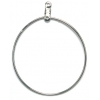 Earhoops Round Nickel 38mm